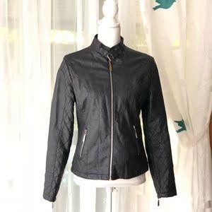 Olivia Miller-Faux Leather Black Moto